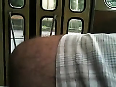 Taking out my dick in public bus