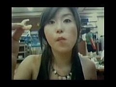 Korean GF Finger Fucked In the Dark