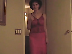 Mature wears lingerie and blows me