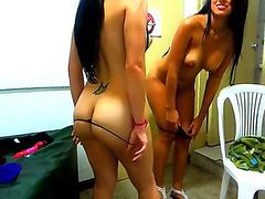 topless girls dance n tease on webcam