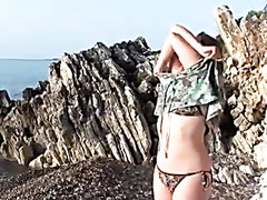 Geny Sex on a Greek beach with Greek Chap